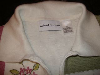 Alfred Dunner Womans Size M Sweater Embroidered