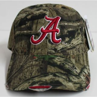 Alabama Crimson Tide Frayed Mossy Oak Camo Cap By Outdoor Cap