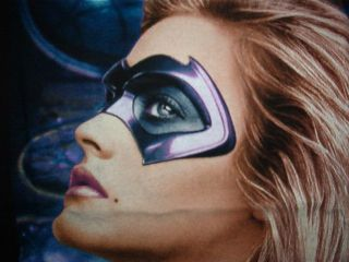 vtg ALICIA SILVERSTONE BATGIRL SHIRT Batman & Robin SM