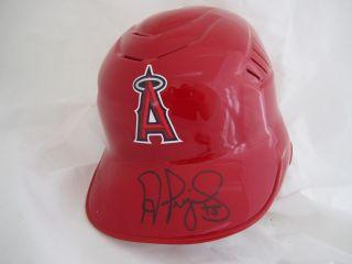 Albert Pujols Signed Baseball Helmet Angels Cardinals Pujols MLB Holo