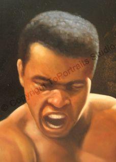 Muhammad Ali Cassius Clay Original Canvas Oil Painting