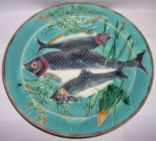 antique wedgwood fish majolica plate c1800 s