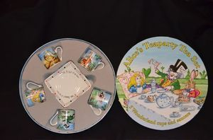 Paul Cardew Alice in Wonderland Teaparty Tea Set New Mint Box 5 Cups
