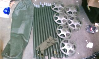Camo Camouflage Netting Tent Support System Aluminum Poles