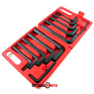 12 Pc Jumbo Hex Key Allen Wrench Set Large Metric & SAE Sizes Included