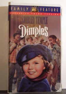 Dimples VHS OOP Shirley Temple Frank Morgan 1936 086162857034