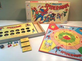 Vintage 1967 The Amazing Spider Man Board Game COMPLETE Milton Bradley