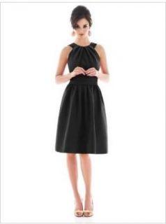 Alfred Sung 494 Bridesmaid Cocktail Dress Black 20
