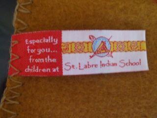 School Montana Native American Blanket Fleece Throw New 36X58