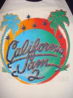 Original Vintage California Jam 2 Shirt Jersey 1978