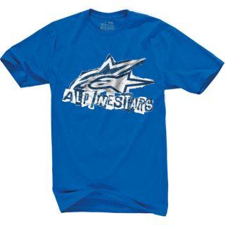 ALPINESTARS ADULT VANDAL T SHIRT BLUE SM XXL