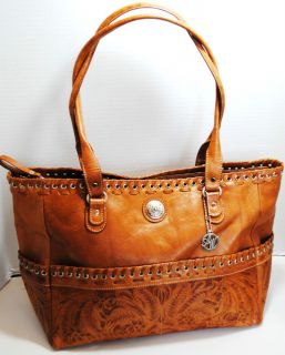 AMERICAN WEST WOMENS BROWN LEATHER TOTE HANDBAG PURSE 389 NWT
