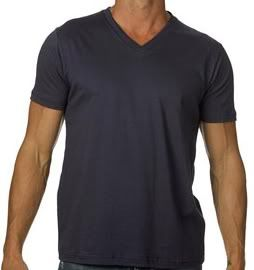 Canvas Mens V Neck Cotton Jersey Tee Shirt Any Sz CLR