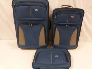 American Tourister 3PC Luggage Set Blue EB1 XX 548