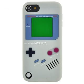 Gray Game Boy Style Silicone Case Cover Skin for Apple iPod Touch 5