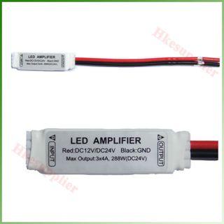 Mini White 12V 24V 12A Signal Amplifier for RGB SMD 5050 3528 LED