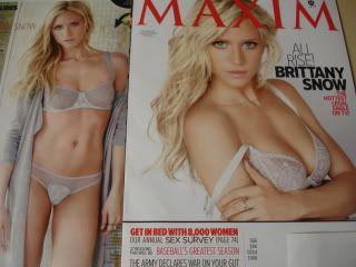 2011 Maxim 160 Brittany Snow Cover Eva Amurri Hope Dworaczyk