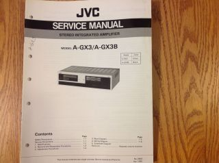 service manual for JVC Stereo integrated amplifier A X3. GX3B