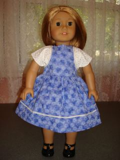 Clothes Fits 18 in Doll American Girl Dolls Blue Dress w Bolero