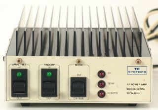 TE Systems 50 54 Mhz Model 0510G 6 Meter 12V Ham Amplifier w gas FET