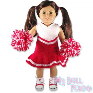 Doll clothes fit American Girl * Dark Red / Maroon Cheerleader Outfit