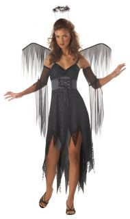 Wicked Angel Dark Evil Fallen Wings Teen Costume