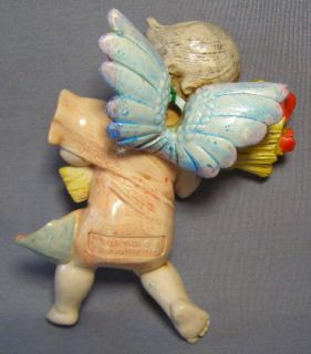 Simonetti #857 Cherub Angel Wheat Flowers 1990 Made in Italy Nativity
