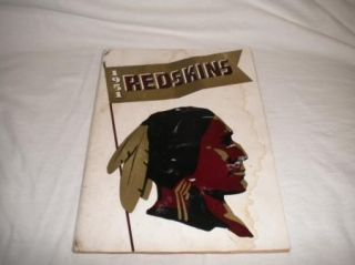 NFL Football Media Press Guide TV Radio Washington Redskins 1951 Good