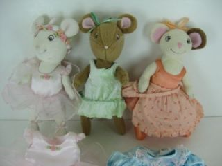 Lot 3 American Girl Doll Angelina Ballerina Plush Toys w Alice Extra