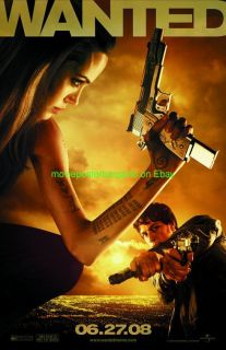 Angelina Jolie Movie Posters Wanted Tombraider
