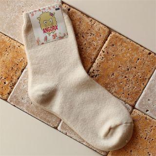Lot of 4 Pair Angora Wool Socks High Quality WH Red Grey Mint Set Sale