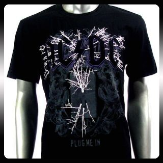 AC DC Angus Young Heavy Metal Rock Roll T shirt Sz L A45 Men