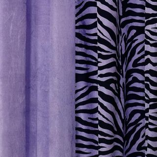 Purple Zebra Animal Print Faux Fur Comforter Set KING/QUEEN w