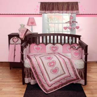 4pc light pink leopard print nursery crib bedding set for baby girl w