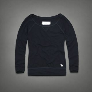 Abercrombie & Fitch AF Hollister Women Andrea Long Sleeve Crew Tee T