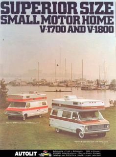 1971 ? Superior Dodge Chevrolet Motorhome Van Brochure