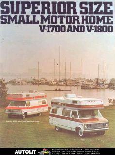 1971 ? Superior Dodge Chevrolet Motorhome Van Brochure
