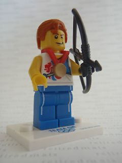 LEGO #8909 2012 London Olympics ARCHER ARCHERY BOW Minifigure Team GB