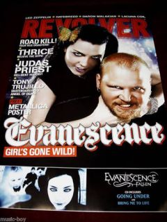 Evanescence Revolver Magazine Poster 18 x 24 Amy Lee
