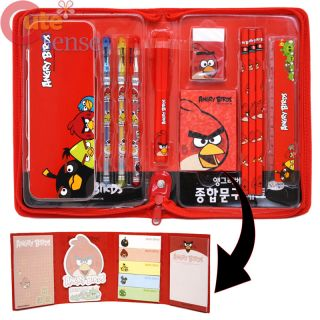 Rovio Angry Birds School Stationary Gift Set in Zippered File Case