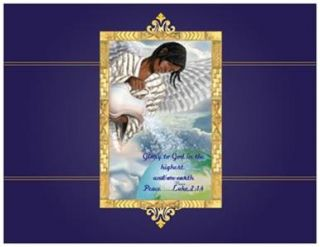 Holiday African American Angel Post Cards Printed US or Canada