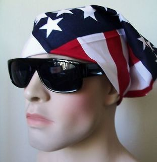 Man Woman USA Flag Bandana Patriotic American 4th of July Election