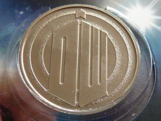 Royal Mint Eleventh Dr Who Matt Smith BU medal
