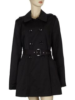 DKNY Donna Karan Womens Double Breasted Trench Coat XL