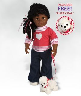 Isabella 18 inch African American Girl Doll in Vinyl