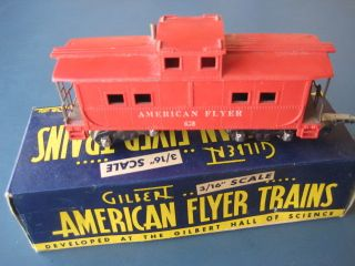 American Flyer s Gauge Red Caboose 638 WOB
