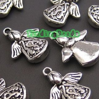 30pcs New Tibetan Silver Angel Charms Pendants TS1833
