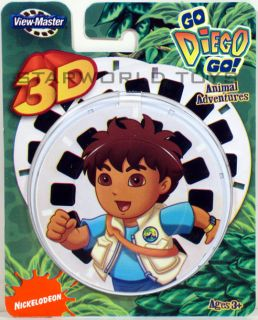 View Master Go Diego Go Animal Adventures x3 Reels 3D Nick Jr