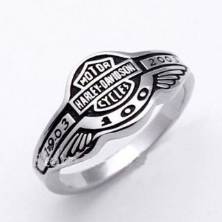 Harley Davidson 100 Anniversary 1903 2003 Ring Size12 Stainless Steel