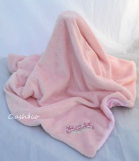 Amy COE Pink Baby Blanket Bunnies Soft Fluffy Lim Ed 2